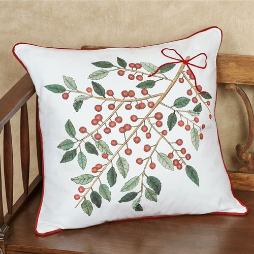 Simply Holly Decorative Pillow White 20 Square