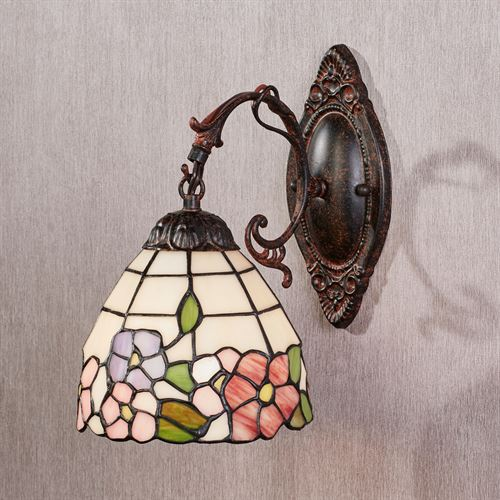 Louvenia Stained Glass Wall Sconce Bronze