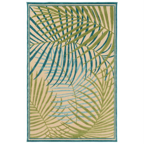 Palm Areca Rectangle Rug