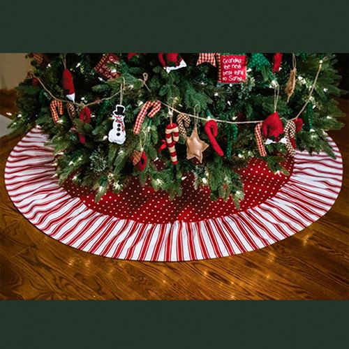 Candy Christmas.Peppermint Candy Red Christmas Tree Skirt