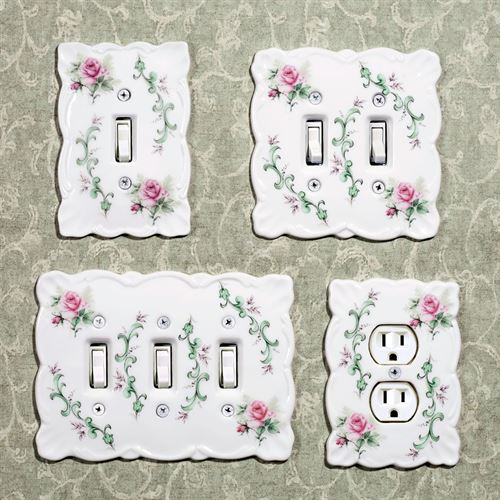 Rose Porcelain Single Switch