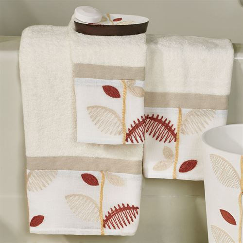 Alysia Bath Towel Set Ivory Bath Hand Fingertip
