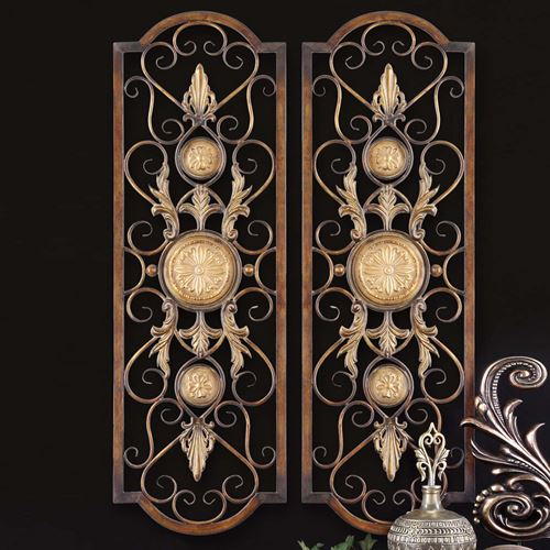 Kyla Wall Grille Panel Pair Brown Pair