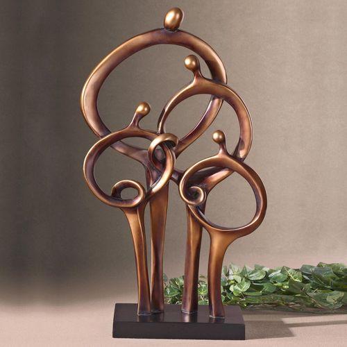 Kindred Ties Family Sculpture Dark Bronze