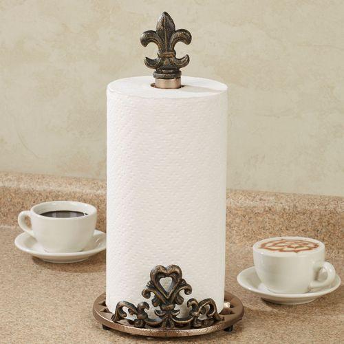 Fleur de Lis Paper Towel Holder Bronze & Fleur de Lis Paper Towel Holder