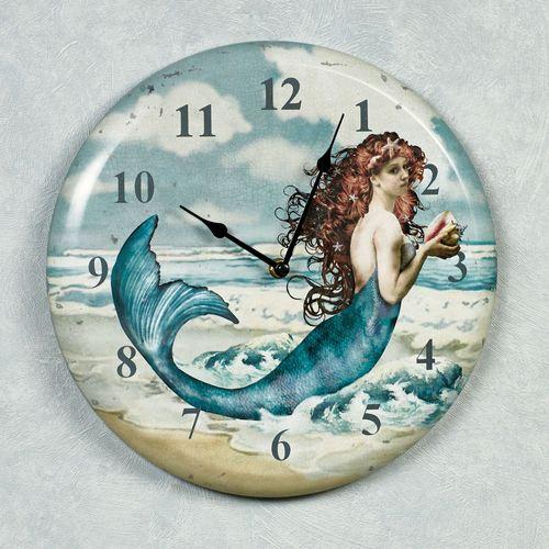 Mermaid Wall Clock Multi Cool