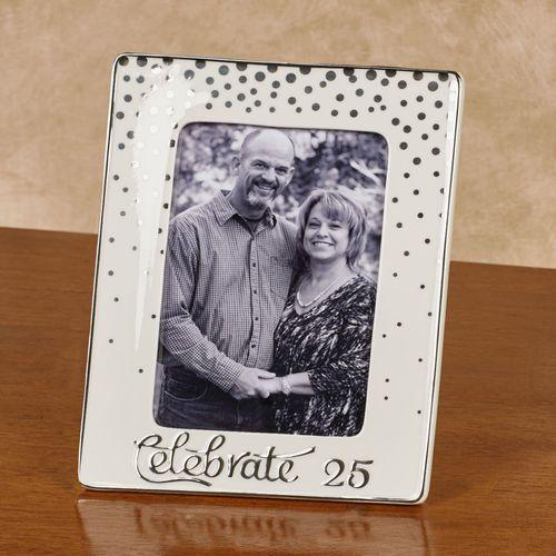 Celebrate 25 Tabletop Photo Frame Silver