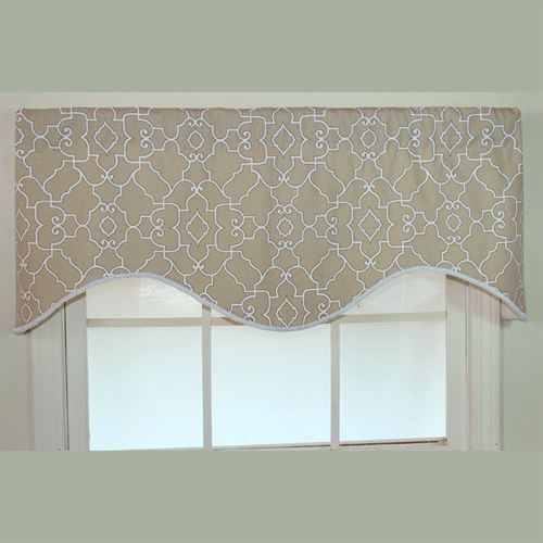 Heaven Neutral Scalloped Valance 51 x 17