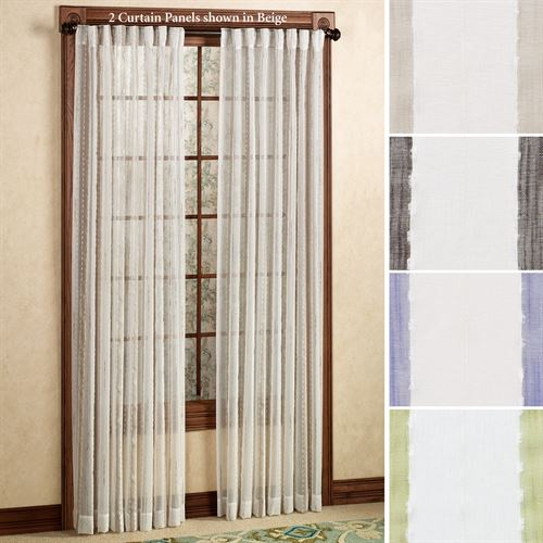 Rococo Back Tab Curtain Panel