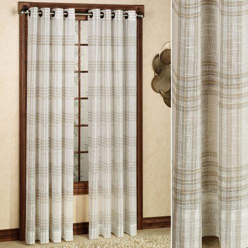 SoHo Plaid Grommet Curtain Panel