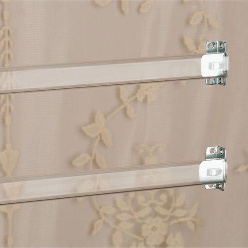 Clear Sash Curtain Rod Set Clear
