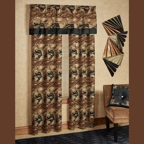 Paragon Grommet Curtain Pair Multi Warm 84 x 84