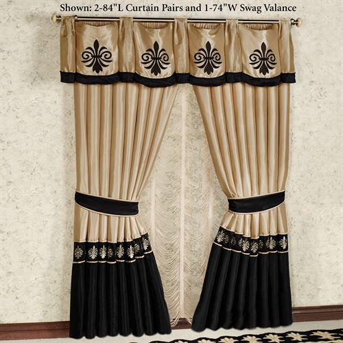 Onyx Empire Tailored Curtain Pair