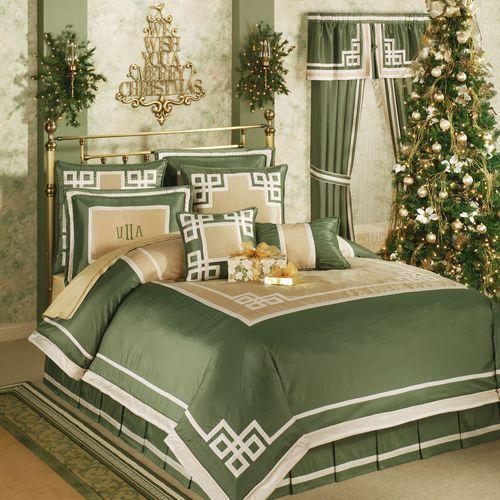 Wynhurst Comforter Set Green Amber