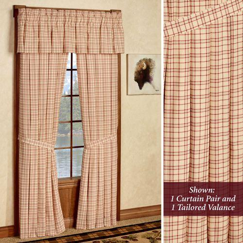 Tacoma Tailored Curtain Pair Crimson 80 x 84