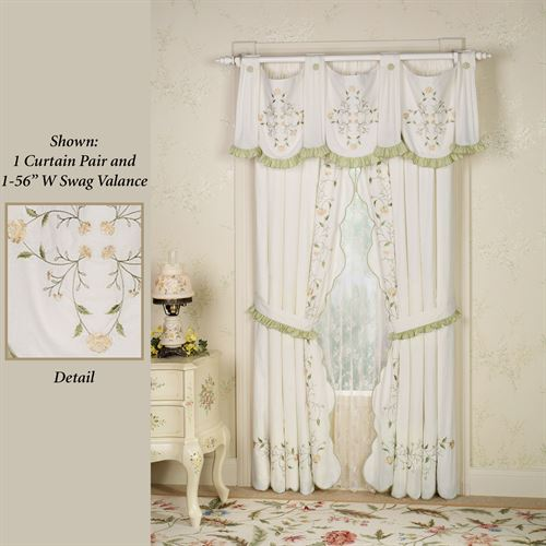 Marigold Tailored Curtain Pair Ivory 96 x 84