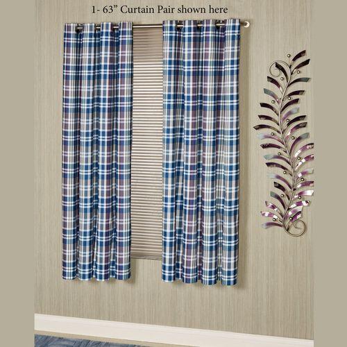 Stratton Wide Grommet Curtain Pair Indigo