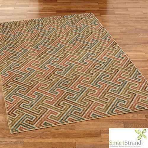 Urban Planner Rectangle Rug Multi Warm