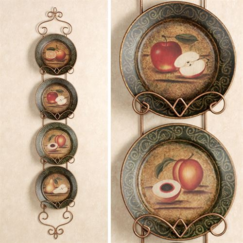 Bountiful Fruit Decorative Plate Set  Set of Four