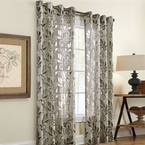 Burnout Curtains Amelia Linen Bur...