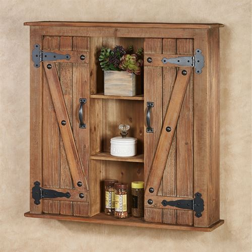 Andover Wall Cabinet Aged Brown