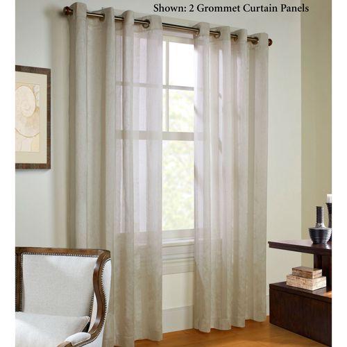 Stellan Grommet Curtain Panel Parchment
