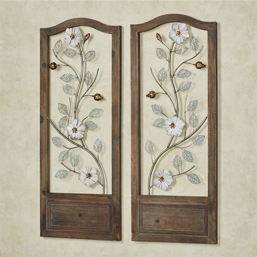 Chantille Openwork Wall Art Panels Multi Cool Set of Two