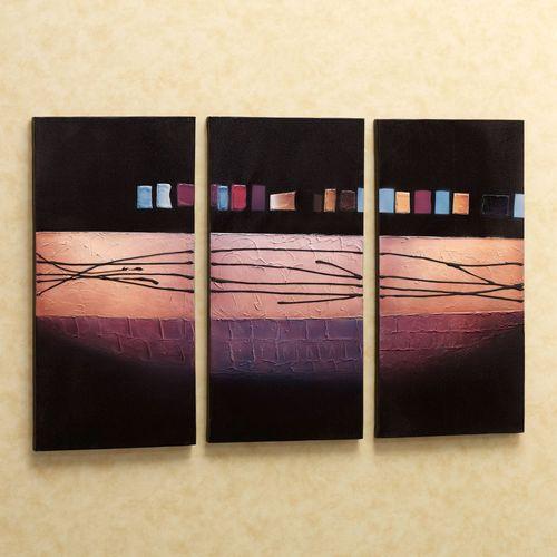 Urban Geometry Canvas Triptych  Set of Three