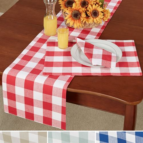 Franklin Buffalo Check Table Linens. Franklin Table Runner 13 X 72