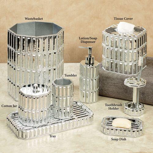 Glitz Silver Lotion Soap Dispenser
