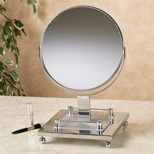 Grand Vanity Mirror Satin Chrome
