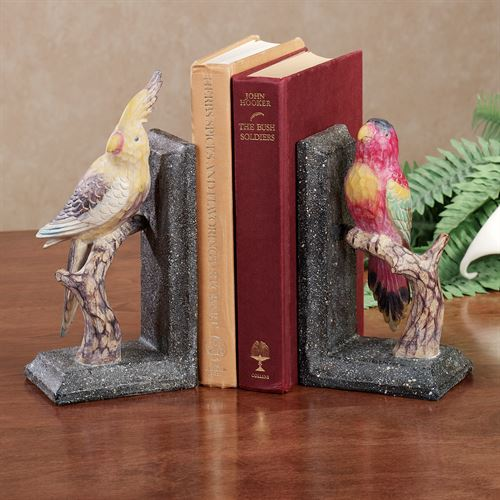 Tropical Birds Duo Bookend Pair Multi Warm Pair
