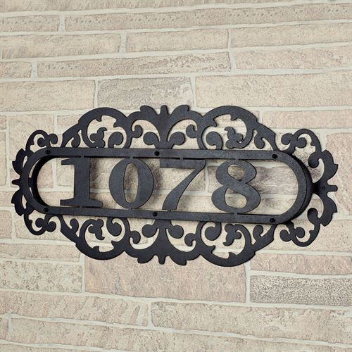 LaRoyal House Number Plaque Black Four to Five Numbers
