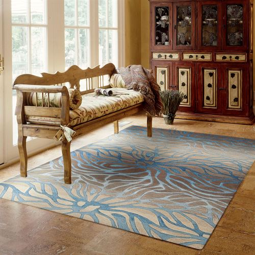 Oceanside Rectangle Rug Beige
