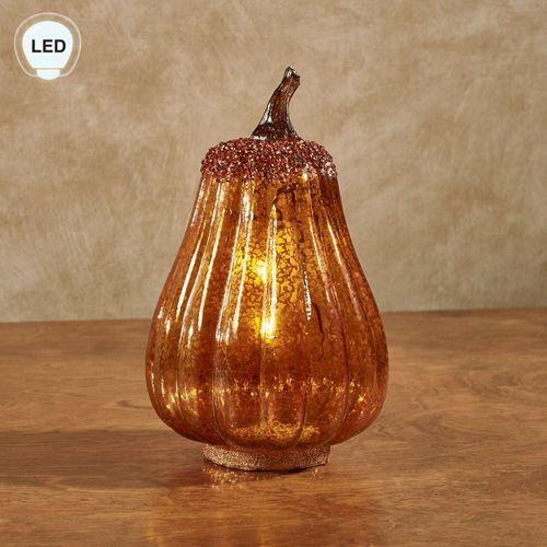 Autumn Glow LED Pumpkin Table Accent Orange