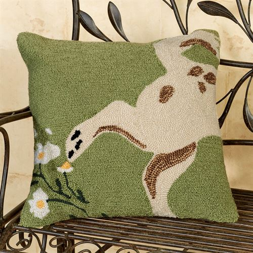 Wipe Your Paws Pillow Moss 18 Square