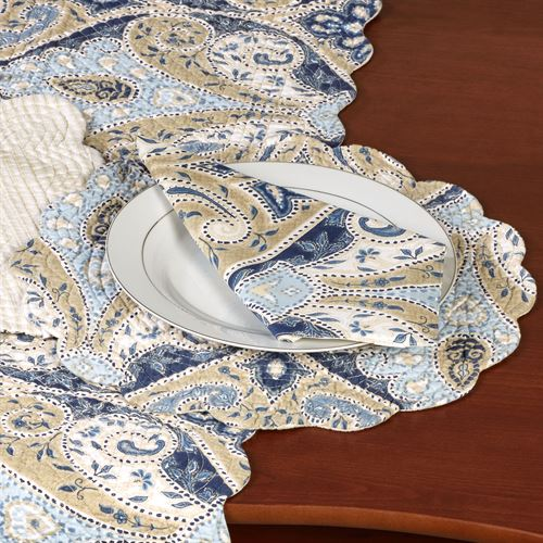 Nazima Round Placemats Multi Cool Set of Four