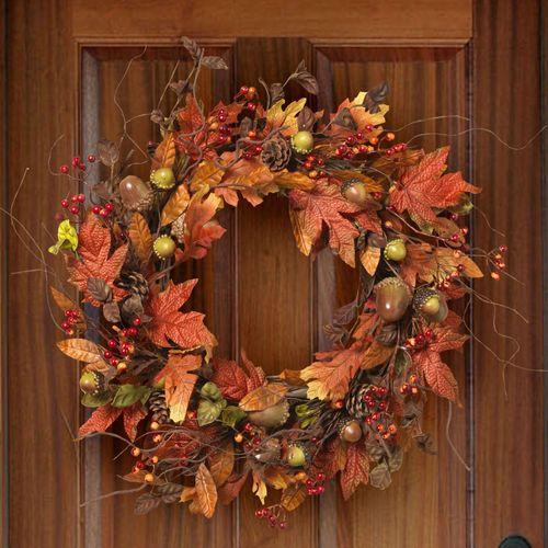 Welcome Fall Wreath Multi Warm