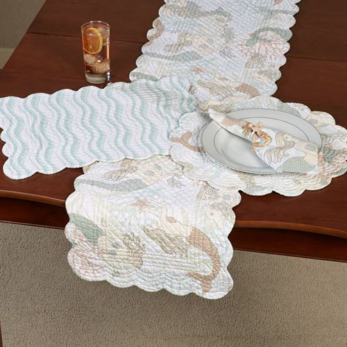 Mystic Echoes Table Runner Multi Pastel 14 x 51