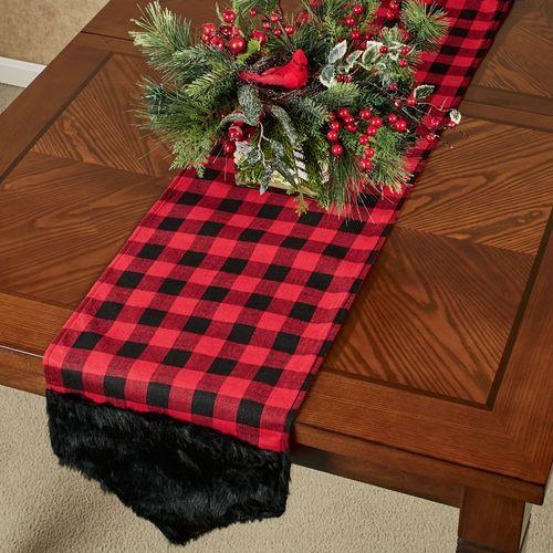 Buffalo Plaid Table Runner Red/Black 13 x 65