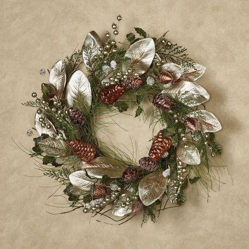 Holiday Winter Wreath Green