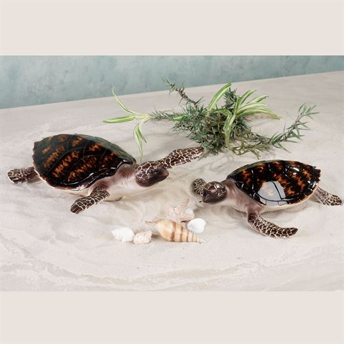 First Swim Sea Turtle Accent Set Multi Earth Set of Two