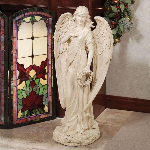 Heavenly Herald Angel Statue Ivory