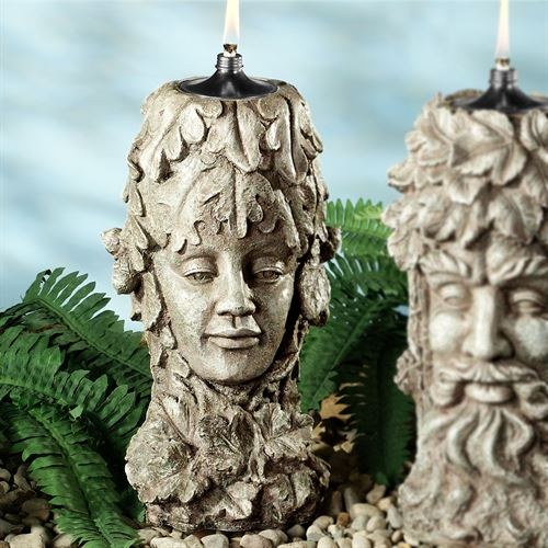 Mother Earth Patio Oil Torch Weathered Stone