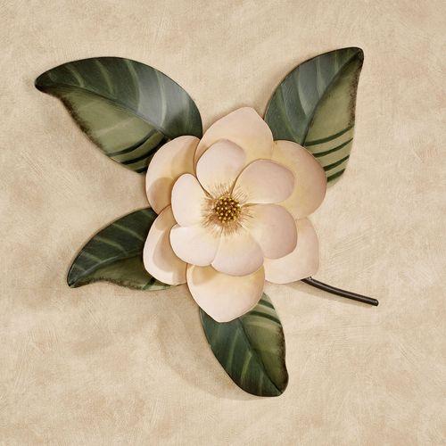 Belle Fleur Magnolia Wall Sculpture Cream