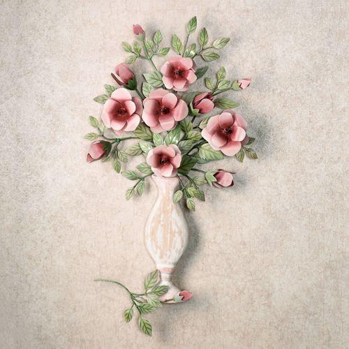 Bouquet de Roses Wall Sculpture Pink