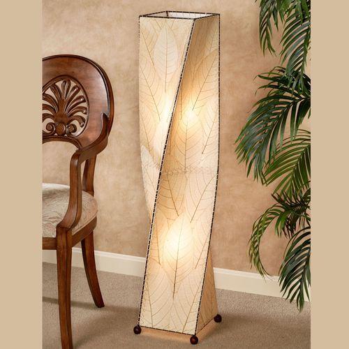 Tropical Twist Floor Lamp Natural