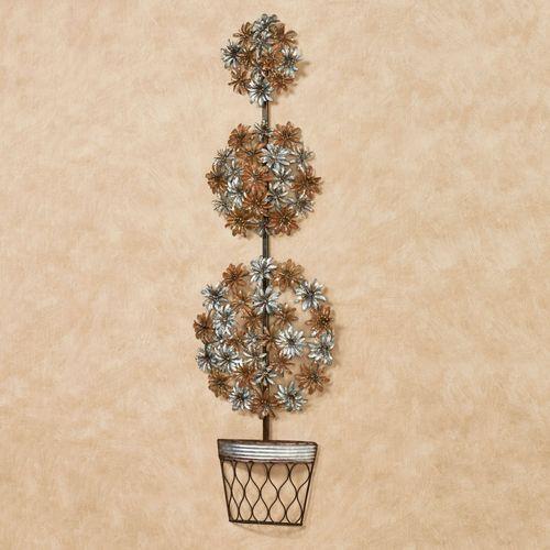 Topiary Floral Wall Art Multi Metallic