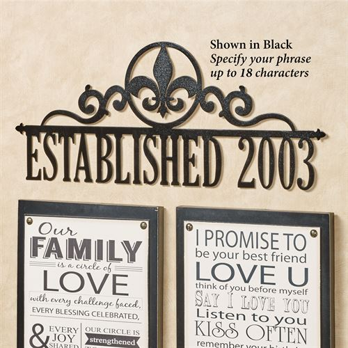 Occasions Personalized Wall Art Sign Fleur de Lis