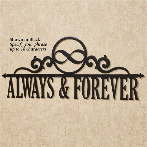 Occasions Personalized Wall Art Sign Infinity